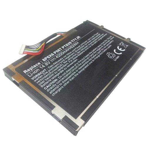 amsahr 14x-02 Ersatz Batterie für Dell Alienware 14x, M11x/R1/R2/R3, M14x R1/R2 schwarz