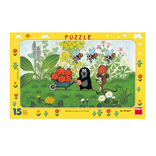 Dino Toys 1084 Little Mole - Puzzle con Marco, diseño de Rompecabezas de Escritorio