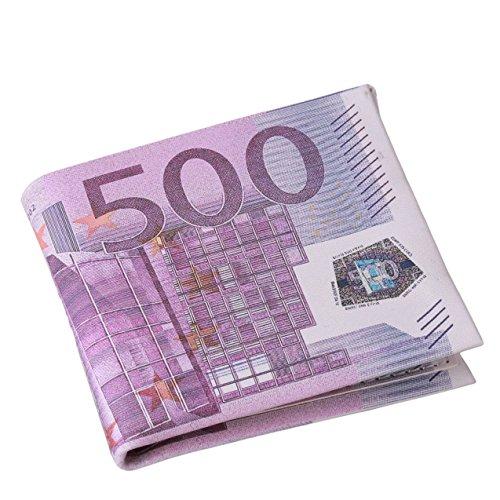 Uomo Portafoglio degli personalità 500/100 Euro fattura tasche del cuoio