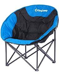 Kingcamp–Silla de camping & trekking satélite–76* 50* 50cm–Estructura en acero y textil impermeable–carga hasta 120kg–Bolsa de transporte incluido–color azul