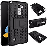 MACC Tough Military Grade Armor Defender Series Dual Protection Layer Hybrid TPU PC Kickstand Cover for LG Stylo 2 LS775/Stylus 2 K520 F720 (Black)