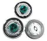 JYR Excellent Quality Replacement 3 pcs Set Shaver / Cutter + Head Net For Philips HQ6070 HQ7310 HQ7380 HQ5705 PT720