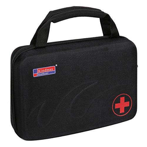 Eshow EVA Medizintasche für Notfälle Betreuertasche Reiseapotheke Tasche Erste Hilfe Set Medizinkoffer Sanitätstasche Schwarz