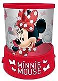 empireposter Nachtlicht - Minnie Mouse - H 12 Ø 11 - Nachtlampe mit Projektion - Einschlafhilfe für Kinder