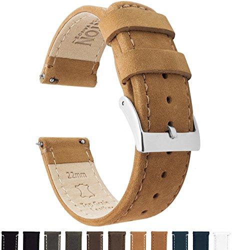 Barton Watch Bands Schnellverschluß. - Top Marke Leder Uhrenarmbänder - Wahl der Farbe und Breite 18mm, 20mm or 22mm Band
