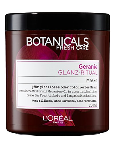 Botanicals Tiefenpflegende Haarmaske Fresh Care Geranie Glanz-Ritual, Maske für glanzloses oder coloriertes Haar, Haarpflege ohne Silikon, 1er Pack (1 x 200 ml)