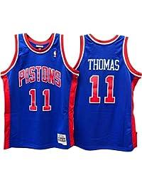 Mitchell & Ness – Detroit Pistons Isiah Thomas – Swingman Jersey Camiseta – Hardwood Classic – NBA Baloncesto – Azul, Hombre,…