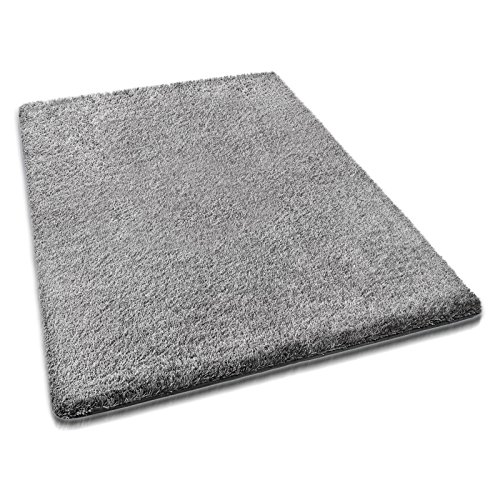 Preisvergleich Produktbild casa pura® hochwertiger Hochflor - Teppich für besonders weiches Laufgefühl | grau | 4 Größen | 133x190cm