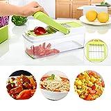 Tagliaverdure per affettare, grattugiare e tagliare a dadini frutta e verdura Zozo Galley®