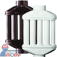 Mistermoby–Intercambiador de calor de 8tubos redondos - Tubo Difusor y recuperador de calor para estufa de color marrón - Diámetro de 10centímetros