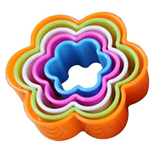 fixuk 5x Fondant Kuchen Cookie Ausstechformen Dekorieren Formen Werkzeug Set Küche Supplies, plastik, einfarbig, Flower#