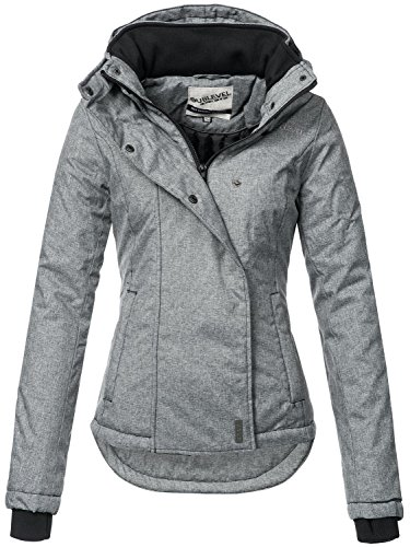 Sublevel Damen Winterjacke Outdoorjacke 46550D Dunkelgrau Gr. L