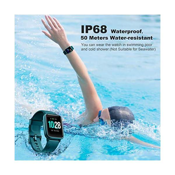 Arbily Reloj Inteligente Pantalla Táctil Completa Pulsera de Actividad Smartwatch Mujer Hombre Niño Reloj Deportivo a Prueba de Nadar Impermeable Podómetro Monitor de Sueño para iOS Android (Azul) 7
