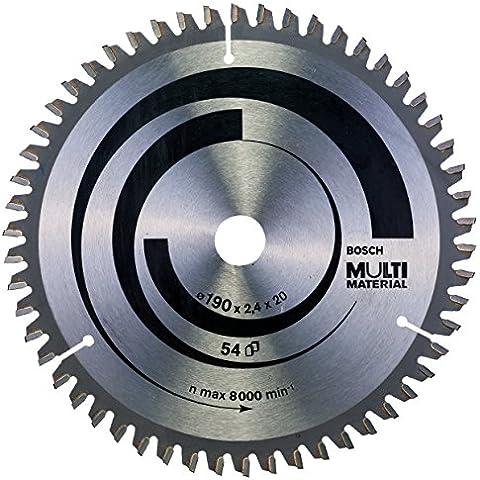 Bosch 2 608 640 508  - Hoja de sierra circular Multi Material - 190 x 20/16 x 2,4 mm, 54 (pack de 1)