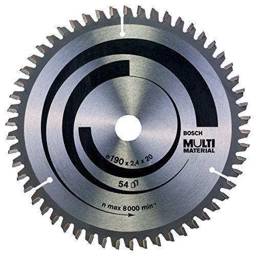 Bosch Professional Kreissägeblatt (für Multi Material, AußenØ: 190 mm, Bohrung: 20 mm, Zubehör für Kreissägen) (Triple-chip-sägeblatt)