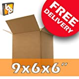 50 Mail Packing Box Small Card Postal Cartons 9x6x6' SW