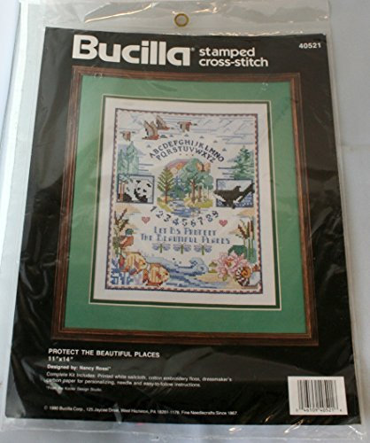 Protect the Beautiful Places Counted Cross-Stitch Kit by Bucilla