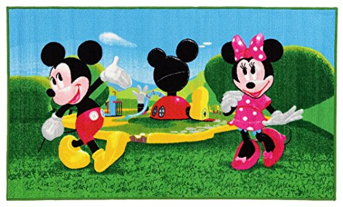 Disney Mickey Mouse Clubhouse Tappeto, Materiale Sintetico, Multicolore, 80.0x140.0x1.12 cm