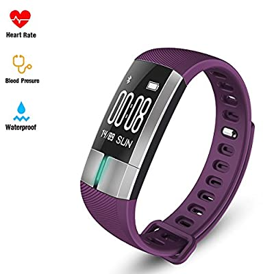 Fitness tracker Smart Bracelet - Fitness Activity Tracker Pulsometros ECG&PPG Monitoring Smart Watch Real-time Heart Rate Blood Pressure IP67 waterproof Pedometer Sleep Monitor Fitness Sports Watch Call/SMS for Android IOS Smart Phone by Fltness