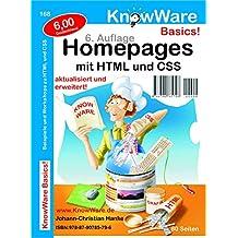 Homepages mit HTML und CSS. Beispiele und Workshops