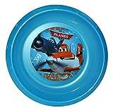 Unbekannt Suppenteller / Suppenschüssel / Müslischale - Kinderteller  Disney Planes Flugzeuge  - aus Kunststoff / Plastikteller Plastik - Geschirr für Kinder - Flugzeug Jungen - Speiseteller - Dusty