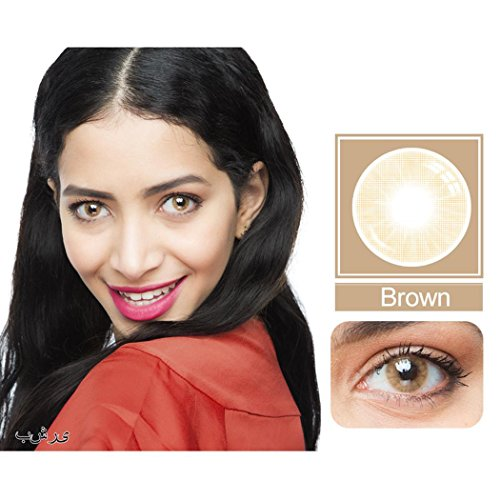 Ncient Lentilles de Contact Colorées Cosmétiques, Lentilles de Couleur Annuelles - Sans Correction Multicolores pour Femme - L13 (2 Pcss)