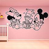 adesivo murale adesivo muro Adesivo murale Minnie Mouse Topolino Minnie Mouse giocare con i giocattoli dei bambini Camera da letto Camera dei bambini da gioco Wall Art Decor