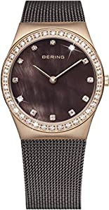 Bering Time-Reloj de pulsera analógico para mujer cuarzo, revestimiento de acero inoxidable 12426-262 de Bering Time