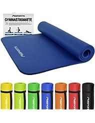 Gymnastikmatte Premium | inkl. Übungsposter | Hautfreundliche - Phthalatfreie Fitnessmatte - in verschiedenen Größen und Farben - sehr weich - extra dick - 190 x 60 x 1,5 cm oder 190 x 100 x 1,5 cm Yogamatte
