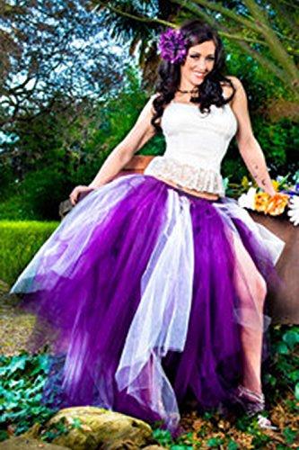 Petticoat 50er Jahre von Babyonline® , Vintage Tüllrock 4 Lage Falten Rock Tutu Reifrock Ballettrock Unterrock Pettiskirt, Unterrock für Hochzeit und Party Lila