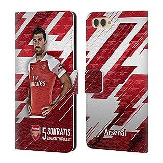 Head Case Designs Offizielle Arsenal FC Shkodran Mustafi 2018/19 Erstes Team Gruppe 1 Brieftasche Handyhülle aus Leder für Huawei Honor View 10 / V10