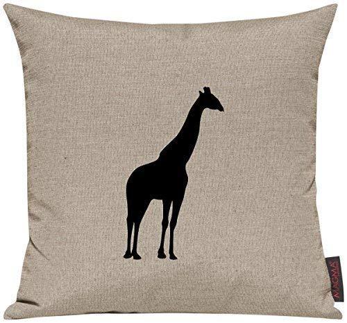 """Kissenhülle für Auserwählte! Sofakissen Tiere """"Dein lieblings Tier Giraffe"""", Farbe taupe"""