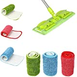 #5: Glive's Replacement Microfiber Spray Mop Head Pads Floor Cleaning Cloth Mop Pads Household Cleaning Mop Accessories (1)