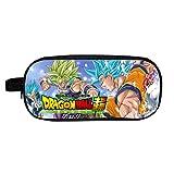 Trousse Dragon Ball Z, Trousse Scolaire Dragon Ball Super Anime 2 Compartiments Trousse école Garcon Trousse à Crayons Pochette à Crayons Étui à Crayons Trousse Papeterie Stylo Organiseur (20)