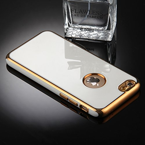 Phone case & Hülle Für iPhone 6 Plus / 6s Plus, 360 Grad Shockproof abnehmbare Galvanotechnik TPU + PC Kombination Schutzhülle mit weißer PC-Abdeckung ( Color : Red ) Gold