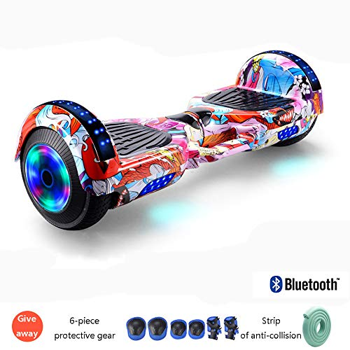 "Hoverboard 7"" Hoverboard Self Balance Scooter Mit Bluetooth Lautsprecher LED Wheel Intelligente Balance Schwerkraftsensor Sichere Geschwindigkeitsbegrenzung Für Kinder Und Erwachsene,I"