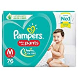 Pampers baby-dry pants style diapers are the only pants in India with new air channels providing your baby a new type of dryness overnight, breathable dryness. Magic gel that locks wetness away for up to 12 hours of dryness. The new and improved prod...