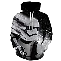 Star Wars Men's Long Sleeve Hoodie 3D Print Casual Loose Comfort Tops-L