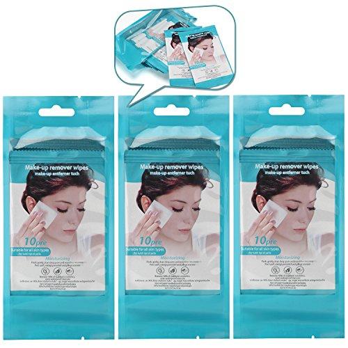 Erfrischende Reinigungstücher,Abschminktücher,Moisturizing Gesichtspflege/Hautpflege Tücher,Make-up Entferner zur Täglichen Gesichtsreinigung,ANTI Aging, Porentiefe Pflege und Reinigung, 3er Pack(3x10 Stück) (Tägliche Pflege)