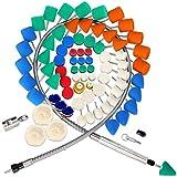 SPTA 78Pcs Mini Detail Polierer mit verschiedenen Pads Polierschaum Pad Kit, verwendet für Rotary-Werkzeuge/Polierer, Bohrmaschine für RMetal Aluminium, Edelstahl, Chrom,Glas