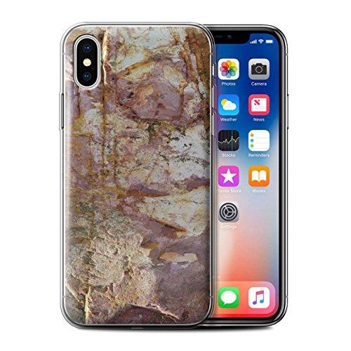 Stuff4 Gel TPU Hülle / Case für Apple iPhone X/10 / Große Steinmauer Muster / Stein/Rock Kollektion Erodiert