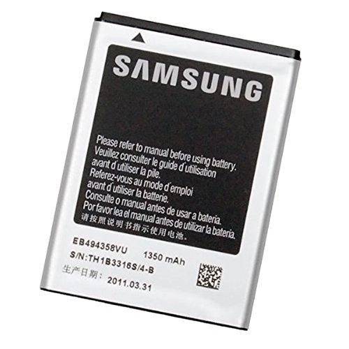 Original Hochleistungs Li-Ion Akku 3,7 V/1350 mAh/5,0 Wh EB494358VU für Samsung Galaxy Ace S5830I GT-S5830 Fit S5670 Gio GT-S5660 (Real Gt)