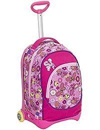 Preisvergleich für Trolley Jack Junior–SJ GANG–Pink–28Lt abnehmbar und waschbar–Schule und Reise
