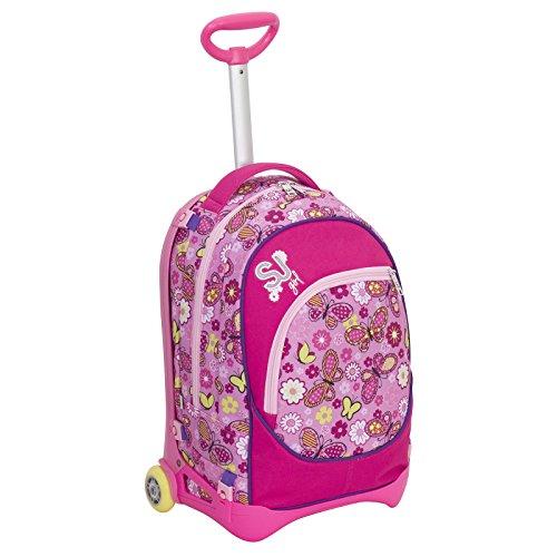 Trolley jack junior - sj gang - rosa - 28 lt sganciabile e lavabile - scuola e viaggio