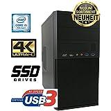 Master-PC Intel Core i5-7500 (Quad-Core) 4 x 3,40 GHz - Kaby Lake, 8 GB DDR4, 256 GB SSD SATA3, Intel HD 630 Grafik 4K, USB 3.1, HDMI, DVI, VGA, DVD-Brenner, Sound, Gigabit-Lan