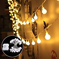 Lichterkette 40 Leds Warmweiß Beleuchtung Kugel Partylichterkette Innen   Und Außen Deko Glühbirne Wasserdicht Deko Glühbirne