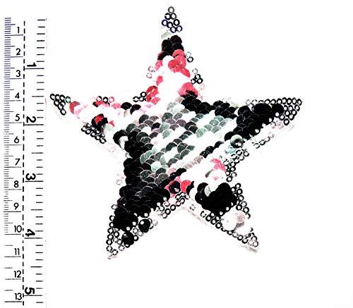 Tap Tap Beautiful Star Cartoon Patches Aufnäher/Aufbügler/Aufbügler mit Pailletten, glitzernd, für Kinder, Kinder, Studenten, für Biker, Biker, Tattoo, Jacke, T-Shirt, Aufnähen, (Biker Tattoos Kostüm)