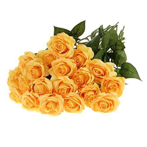 Generic 20pcs Kunstblumen Rose Blüht Blumenköpfe Blumenstrauß Strauß Haus Hochzeit Partei Büro Geschenk Dekor