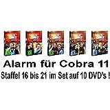 Alarm für Cobra 11 - Staffel 16 - 21 im Set - Deutsche Originalware [10 DVDs]