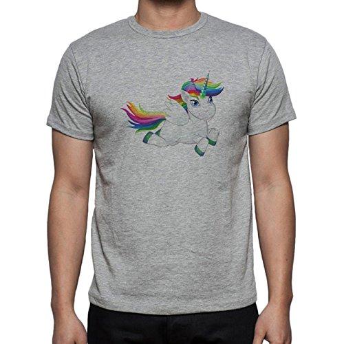 Cute Rainbow Pony Fly Herren T-Shirt Grau